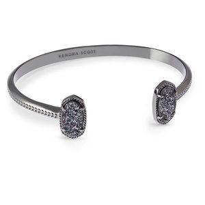 Kendra Scott Elton Gunmetal Black Bracelet